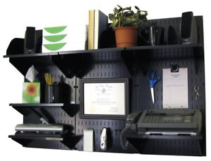 Wall Control 10 ofc 300 Bb Office Wall Mount Desk Storage And Organization Kit