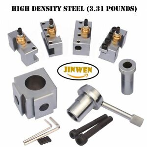 Jinwen 120018 Tooling Package Mini Lathe Quick Change Tool Post Holders