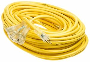 Yellow Jacket 2820 12 3 Heavy duty 15 amp Sjtw Contractor Extension Cord With