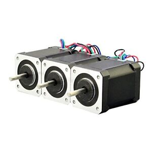 3pcs Nema 17 Bipolar Stepper Motor Kit 92oz in 2 1a 4 lead 60mm Hobby Cnc