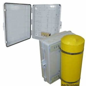 Altelix 17x14x6 Pole Mount Abs Weatherproof Nema Box Outdoor Equipment Enclosure