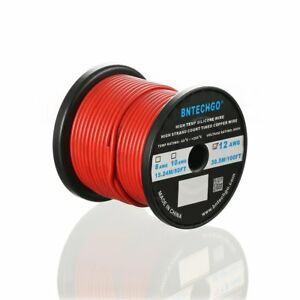Bntechgo 12 Gauge Silicone Wire Spool Red 100 Feet Ultra Flexible High Temp 200