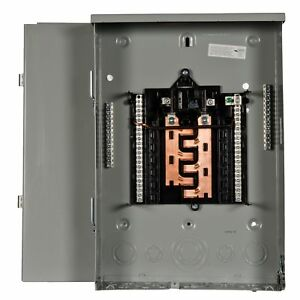 Pw1224b1100cu 100 amp 12 space 24 circuit Outdoor Rated Main Breaker Load Center