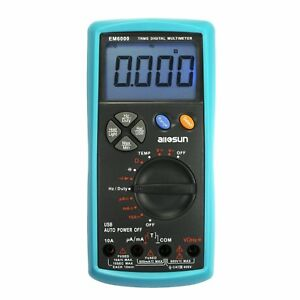 All sun Handheld Digital Multimeter Trms Dual Fuse Lcd Auto Ac Dc Volt Meter Ohm