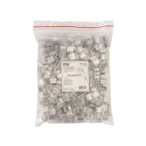 Easy twist Push in Wire Connector 4 Wires Clear bag Of 400