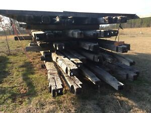 Deconstructed Antique Log Cabins One American Chestnut One Pine