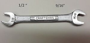 Craftsman Open End Wrench 1 2 X 9 16 Vv 44579 Usa New Old Stock