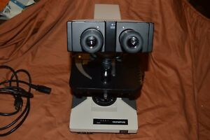 Olympus Bhtu Microscope With 5 D Plan Objectives And In Excellent Shape