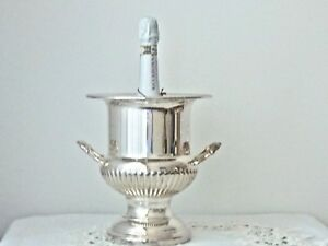 Vintage Elegant Silver Plated Champagne Ice Bucket