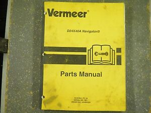 Vermeer D24x40a P2 14 Navigator Parts Manual Sn101