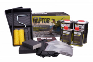 U Pol 5010 Roll On Raptor Bed Liner Kit 2 Liters Black Upol 5010