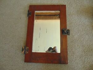 Antique Wooden Wall Medicine Cabinet W Mirror Door Only Mission Style Built In