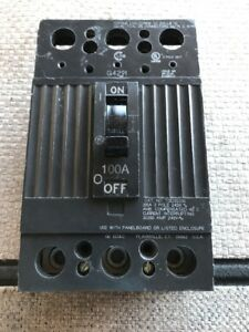 General Electric Tqd32100 Molded Case Circuit Breaker 100a 3p 240v