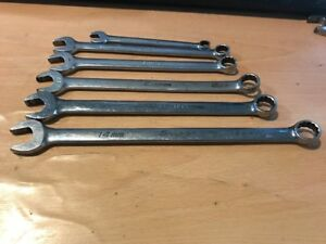 Snap On 6pc 12 point Metric Combination Wrench Set 8 14mm