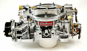 Edelbrock Marine Carburetor 600 Cfm Electric Choke 1409 Factory Remanufactured