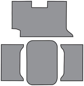 1961 Chevy Impala Trunk Mat Loop Fits 2dr Convertible In Carpet With Pad