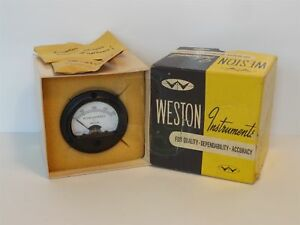 New Weston Instruments Model 201 0 200 Microamperes D c Microammeter 5301103