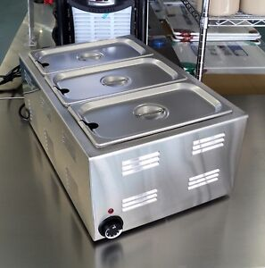 Countertop Electric Food Warmer Full Size 12 X 20 With Steam Table Pans