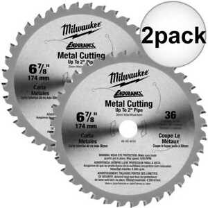 Milwaukee 48 40 4016 6 7 8 36 Teeth Ferrous Metal Circular Saw Blade 2x New