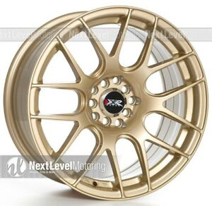 Xxr 530 17x8 25 5 100 5 114 3 35 Gold Wheels Rims Set Of 4 Fits Mazda Kia