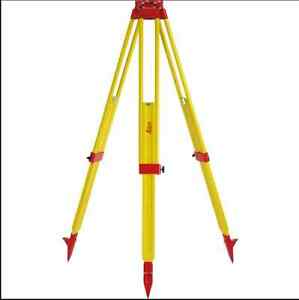 Leica Gst20 9 Wooden Tripod For Total Station Theodolite Level Laser M