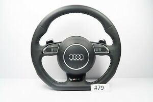 Audi Rs4 Line A4 S4 A5 Steering Wheel With Airbag Flat Botton Shift Padlles 79