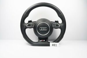 Audi S Line A4 S4 A5 S5 Steering Wheel With Airbag Flat Botton Shift Padlles 81