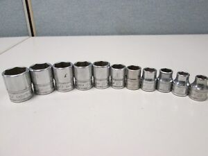 Snap On 212fsmy 11 Pc 3 8 6pt Metric Shallow Socket Set