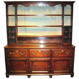 Antique English Or Welsh Oak Dresser Circa 1760
