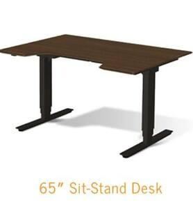2 Danes Sit stand Desk With Rolling Cabinet
