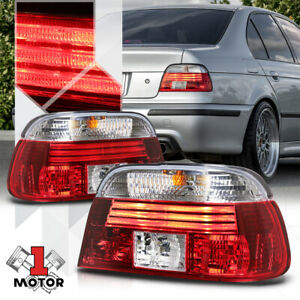 Red Clear Euro Led Light Bar Tail Light Brake Lamp For 97 00 Bmw E39 5 Series