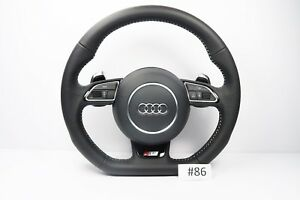 Audi S5 Line A5 S5 Steering Wheel With Airbag Flat Botton Shift Padlles 86