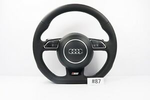 Audi Sq5 Line A5 S5 Sq5 Steering Wheel With Airbag Flat Botton Shift Padlles 87