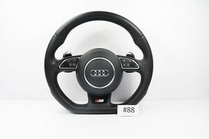 Audi A1 S1 S Line Flat Bottom Perforated Leather Steering Wheel With Airbag 88