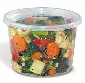 Safepro Food Storage Containers With Lids 16 ounce 100 Pcs