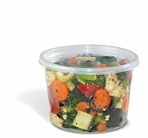 Safepro Food Storage Containers With Lids 16 ounce 200 Pcs