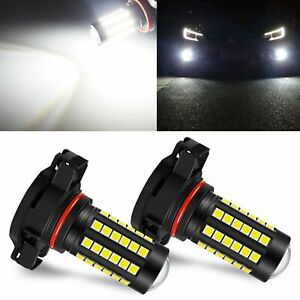 Jdm Astar 2x 6000k White 5202 H16 27 Smd Extreme Bright Led Fog Drl Lights Bulbs
