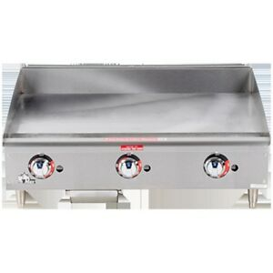 Griddle Flat Top Grill Gas Thermostatic 36 Star 636tf