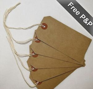 Quality Brown Parcel String price Tags Luggage Craft String Ties 4 Sizes