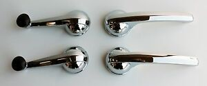1956 1957 1958 1959 Chevy Gmc Truck Interior Chrome Window Door Handles 4pc