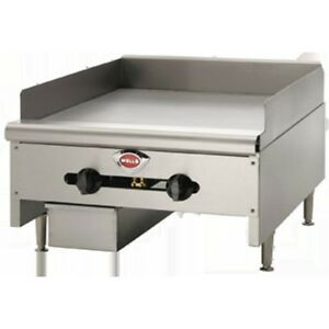 Griddle Flat Top Grill Manual Gas Heavy Duty 24 Wells Hdg2430g