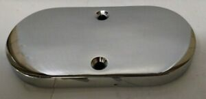 Chrome Smooth Flat Top Master Cylinder Cover Replacement Gasket Street Rod Lid