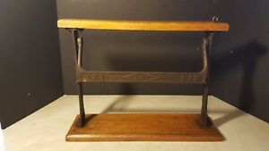 Antique Ace 12 Paper Cutter General Store Cast Iron Advertising Display
