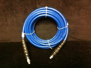 Blue Non marking Pressure Washer Hose 3 8 I d X 50ft 4 000 Psi Cpld Mpt X Ms