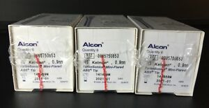 Lot Of 18 Alcon Turbosonics Mini flared Abs Tip 45 Deg Ref 8065750853 In Date