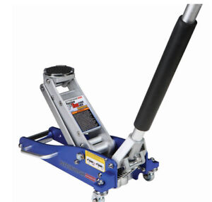 1 5 Ton Aircraft Aluminum Racing Floor Jack With Rapid Pump Rubber Saddle Pad