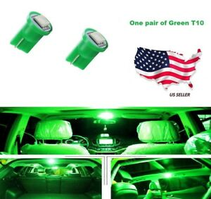 192 194 W5w 168 Xenon Brand New 2 Pcs Green T10 1 smd Wedge 5050 Led Light Bulbs
