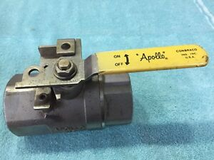 Used 2 Inch Apollo 1500 Wog 316 Stainless Steel Ball Valve