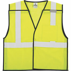 Unisex Class 2 High Visibility Breakaway Safety Vest lime Small medium 50 pk