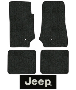 2007 2010 Jeep Wrangler Floor Mats Jk 4pc Cutpile Fits 2dr